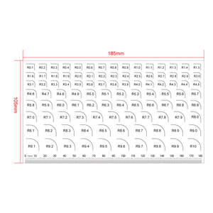 180mm/720 Div Transparent Ruler RT02420214