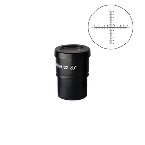 WF 10X Widefield Microscope Eyepiece with Reticle, Crosshair Scale, High Eyepoint, 30mm, FOV 22mm (One)