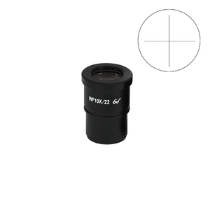 WF 10X Widefield Microscope Eyepiece with Reticle, Cross Line, High Eyepoint, 30mm, FOV 22mm (One)