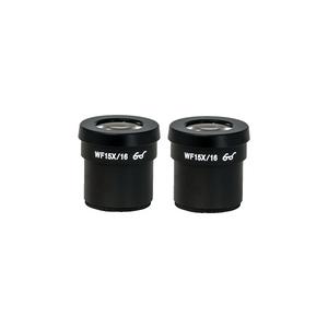 WF 15X Widefield Microscope Eyepieces, High Eyepoint, 30mm, FOV 16mm (Pair)