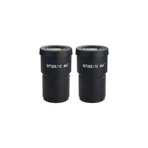 WF 20X Widefield Microscope Eyepieces, High Eyepoint, 30mm, FOV 12mm (Pair)