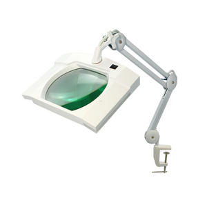 5 Diopter (2.25X Magnification) LED Magnifying Lamp with Clamp, Rectangle Head