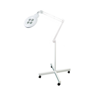 8/10/12/15 Diopter LED Magnifying Lamp on Rolling Floor Stand, 4 in 1 Multi-Lens