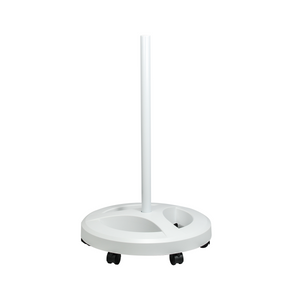 Rolling Floor Stand for Magnifying Lamp, Heavy Duty (Round Base with 6 Caster Wheels)