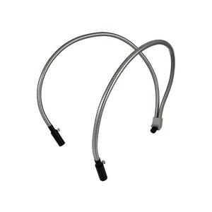 Dual Gooseneck Light Guide Cables for Microscope Fiber Optic Illuminator, Length 460mm, Output Diameter 5mm, Input Diameter 7mm