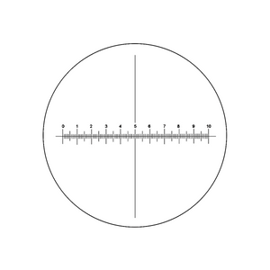 10mm/100 Div  X-Axis Cross Hair Scale Reticle ( Dia. 25mm) RT20103171