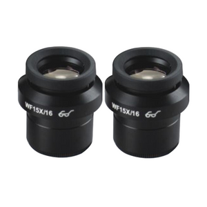 WF 15X Widefield Focusable Microscope Eyepieces, High Eyepoint, 30mm, FOV 16mm, Adjustable Diopter (Pair) SZ05023421