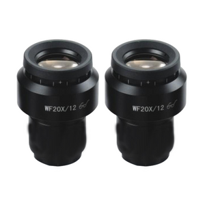 WF 20X Widefield Focusable Microscope Eyepieces, High Eyepoint, 30mm, FOV 12mm, Adjustable Diopter (Pair) SZ05023621