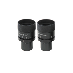 WF 30X Widefield Focusable Microscope Eyepieces, High Eyepoint, 30mm, FOV 8mm, Adjustable Diopter (Pair)