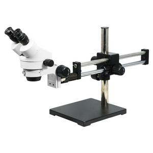 7X-45X Widefield Zoom Stereo Microscope, Binocular, Double Arm Boom Stand (Siedentopf)