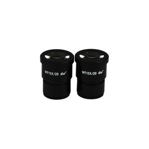 WF 10X Widefield Microscope Eyepieces, High Eyepoint, 30mm, FOV 20mm (Pair)