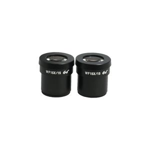 WF 15X Widefield Microscope Eyepieces, High Eyepoint, 30mm, FOV 15mm (Pair)