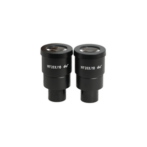 WF 20X Widefield Microscope Eyepieces, High Eyepoint, 30mm, FOV 10mm (Pair)