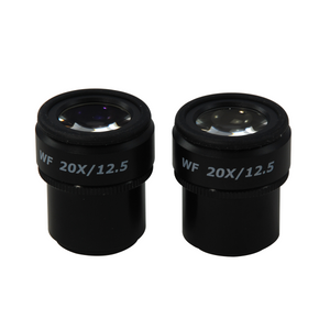 WF 20X Widefield Focusable Microscope Eyepiece, High Eyepoint, 30mm, FOV 12.5mm, Adjustable Diopter (Pair)