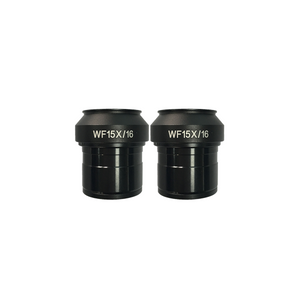 WF 15X Widefield Focusable Microscope Eyepieces, High Eyepoint, 30mm, FOV 16mm, Adjustable Diopter (Pair)