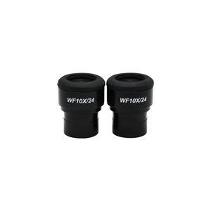 WF 10X Widefield Focusable Plan Microscope Eyepieces, High Eyepoint, 30mm, FOV 24mm, Adjustable Diopter (Pair)