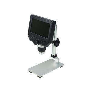 1-600X LED Digital Microscope, HD 4.3 inch LCD Screen, 3.6 MP