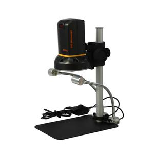Vitiny 12X-132X Digital Microscope, LED Light, 2.0 MP USB 2.0 HDMI, Post Stand