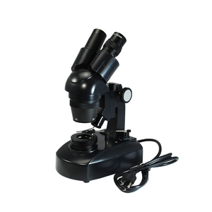 20X/40X Jewelry Gem Stereo Microscope, Binocular, Halogen Light, Track Stand + Dark Field Condenser