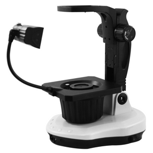 Jewelry Gem Microscope Stand, B&L Focus Rack, Top and Bottom Light, Fluorescent and Halogen