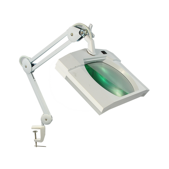 3 Diopter (1.75X Magnification) LED Magnifying Lamp with Clamp, Rectangle Head