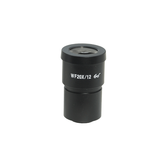 WF 20X Widefield Microscope Eyepiece with Reticle, X-Axis Crosshair, High Eyepoint, 30mm, FOV 12mm (One)