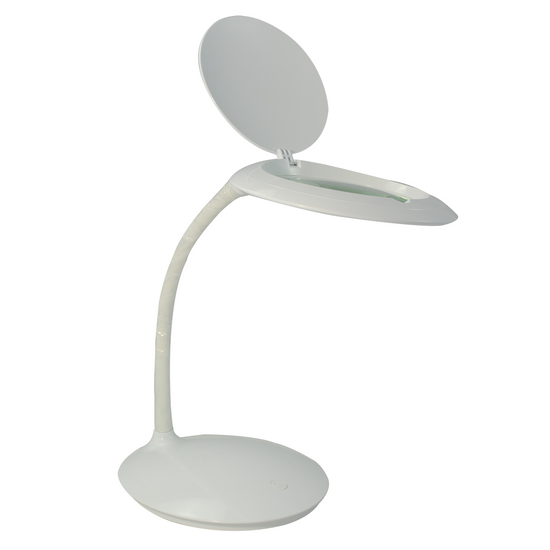 3 Diopter (1.75X Magnification) LED Desktop Magnifying Lamp, Adjustable Metal Gooseneck for Reading, Crafts, Hobbies