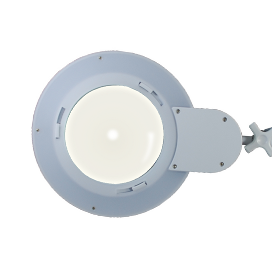 5 Diopter (2.25X Magnification) LED Magnifying Lamp with Clamp, 6 inch Lens