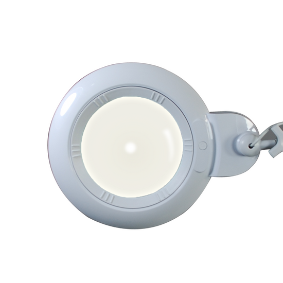 3 Diopter (1.75X Magnification) LED Magnifying Lamp on Rolling Floor Stand, 6 inch Lens