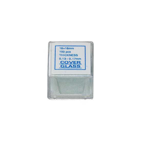 18x18x0.15mm Square Coverslips (18x18 100pc) SL39201012