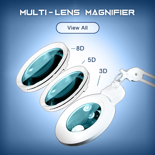 Multi-Lens Magnifying Lamp