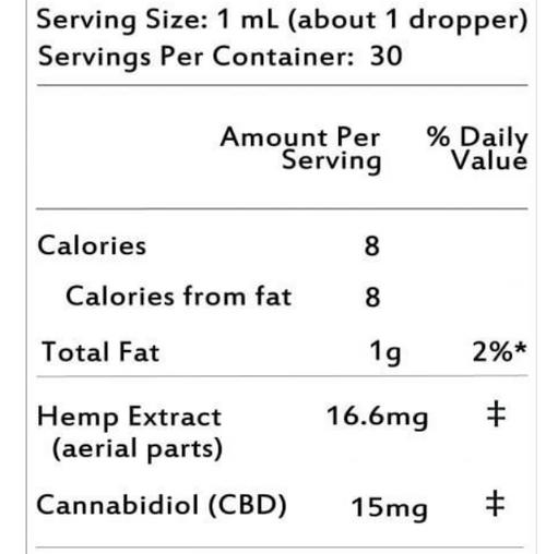 Natures Love USDA Organic Hemp Extract 450mg CBD(Peppermint)