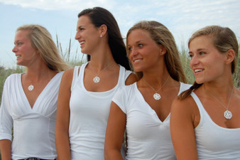 Monogrammed Cut Out Necklace