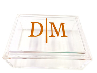 Personalized Acrylic Beveled Box