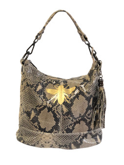 Italian Leather Jenn Snakeskin Bag