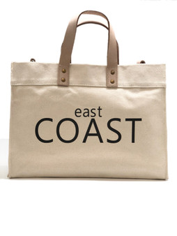 East Coast/ West Coast Canvas Box Tote