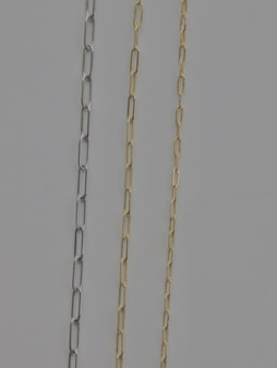 From Left to Right: Large Silver 4mm, Medium Gold 3mm, Small Gold 2mm