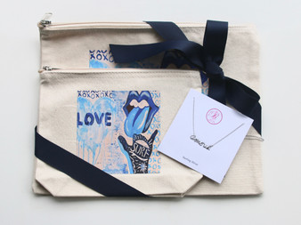 Love Canvas Bag Set with Amour Necklace