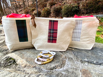 Give a little love... Plaid Bag and Bracelet Set