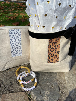 Holiday Leopard Bag and Bracelet Set