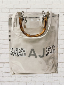 Tybee Bamboo Handled Transparent Tote