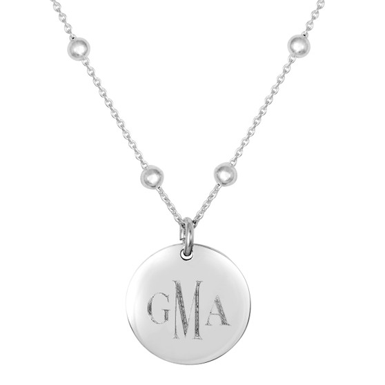 Monogrammed Linwood Beaded Necklace
