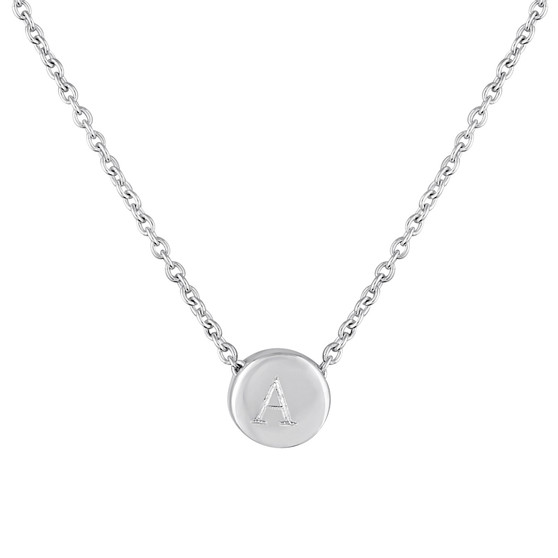 Zoey Necklace, Engraved Necklace, Sterling Silver