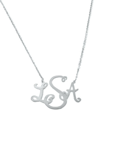 Monogrammed Avery Cut Out Necklace