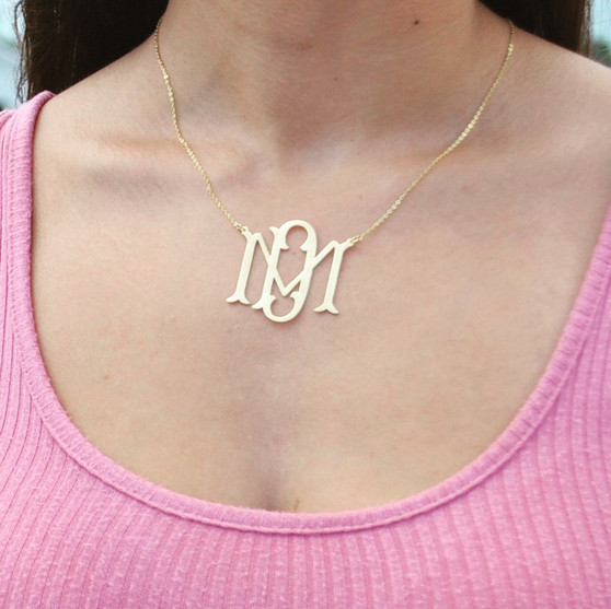 Monogrammed Bae Cut Out Necklace