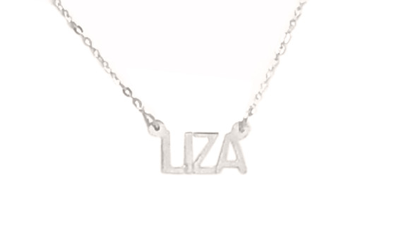 Personalized Cut Out Liza Nameplate Necklace