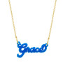 Acrylic Nameplate Necklace with Chain