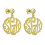 Monogrammed Dangle Earrings