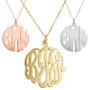 Cut Out Monogram Necklace, Metal Monogram, Monogram, Persoanlized Necklace Initial Reaction
