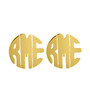 Monogrammed Cut Out Post Earring
